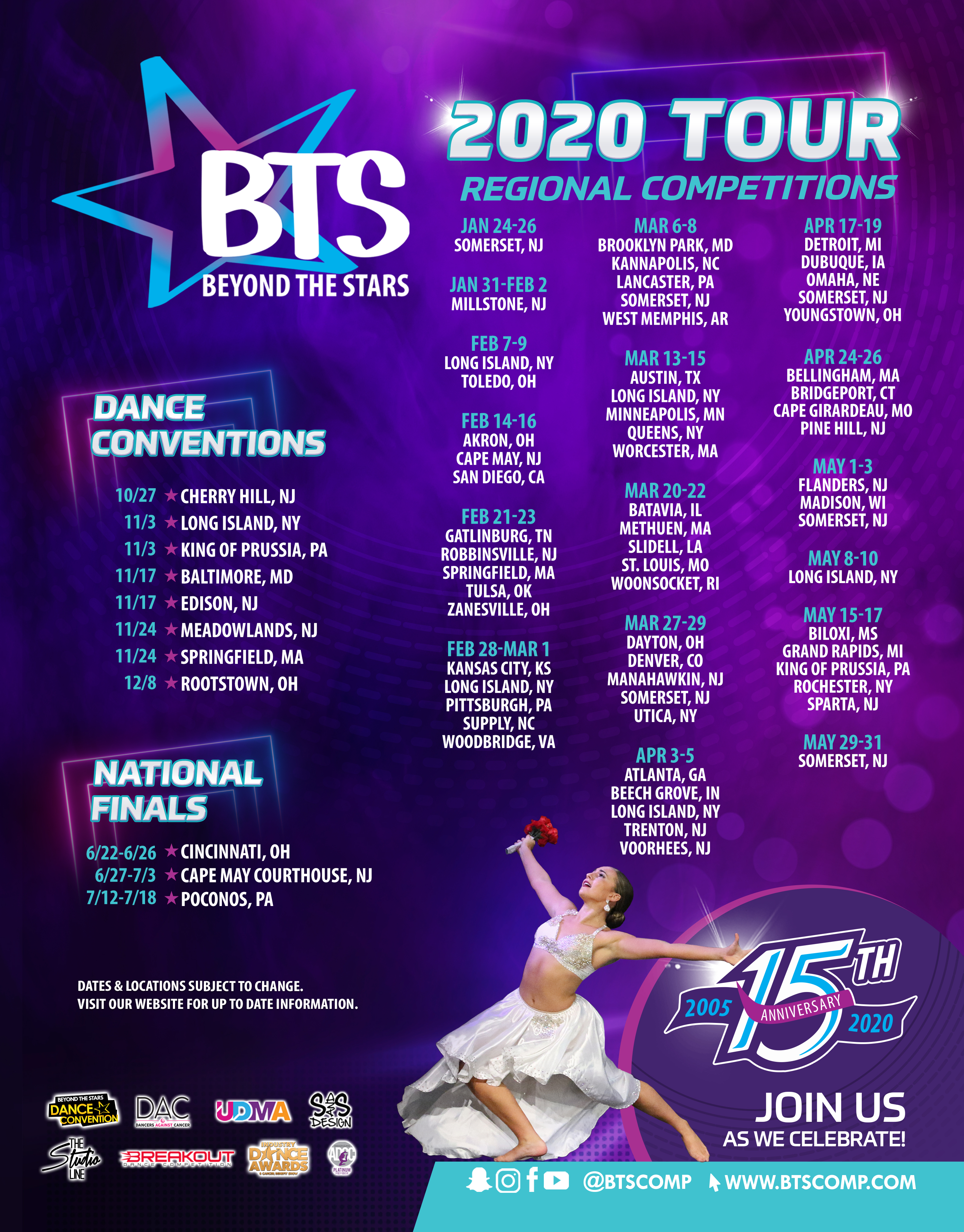 Bts 2020 Tour Dates.Beyond The Stars Competition